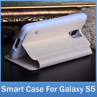 Smart Cover For Samsung Galaxy S5 i9600 Case Front Window To Answer Incoming Call High Quality Case For Galaxy S5