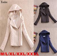 Lanluu Europe Fashion Winter Parkas 2014 New Slim Hooded Women Short Cotton Coats SQ877