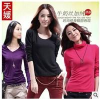 Autumn Winter Women's Round Neck Long-Sleeved T-Shirt  Ladies T Shirt Women Clothes Women Clothing Crop Tops