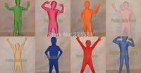 Lycra Spandex Zentai Suits Flesh Black Unisex Lycra Spandex Unicolor Kid Zentai Suits Halloween & birthday Party suit