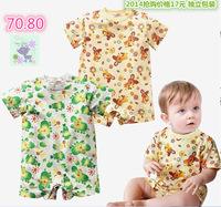New Summer Baby Boys Clothing Short Sleeve Print T-Shirt  Child Clothes 1 Pcs Free Shipping K4017
