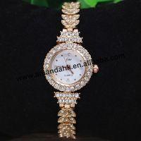 50pcs/lot JW-823 Fashion Rhinestone Wheat Shape Watch Band Wristwatch Bracelet Good Quality Casual Women Dress Bangle Watches
