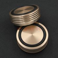 4PCS 44*17mm Golden Solid Aluminum Amplifier Speaker Cabinet CD Player Feet Pads