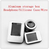 Aluminum metal storage box  Headphone silicone sleeve storage box wire storage box headphone storage box