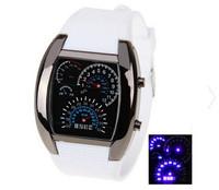 Top Fashion LED Wrist Watch Irregular Dial Arabic Numbers Watch Silicon Watch Silicon Watches Unisex