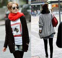 2014 new winter explosion models Korean women love  pocket  knit cardigan sweater