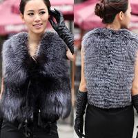 Womens Luxury Faux Fur Vest Jacket Coat Winter Waistcoat Tops Outerwear Size 6-14