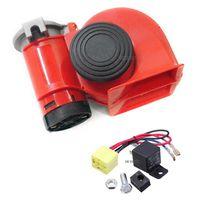 Car Truck 12V Siren Loud Sound Dual Tone Compact Snail Electric Pump Air Horn Free Shipping 50% OFF