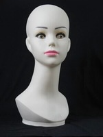 Female Troika Mannequin Head for Hats, Wigs or Model Display
