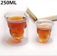 New!! 250ml Doomed Crystal Skull Shot Glass/Crystal Skull Head Vodka Shot Glass,1 pc,Free Shipping