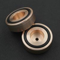 4PCS 44*17mm Golden Solid Aluminum CD Player DAC PC Cabinet Amplifier Feet Pads