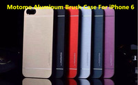 Motomo Deluxe Gold Metal brush Cover for iPhone 6 Air Case Portable Aluminum Hard Back Cover For iPhone6 4.7 inch Top Quality