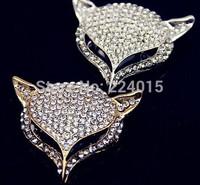Hot Sale !Free Shipping 50*45mm Fashion Alloy Fox Rhinestone Jewelry DIY Accesorios, Phone Findings Handmade