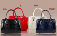2014 new lady/women smiley style crocodile bags fashionable Shoulder bags  handbag brand luxury bag
