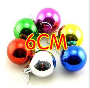 12 шт./упак. елочные украшения елочные украшения 6 см светильник в форме шара лоб пластиковые шары прямая поставка, Eh083
