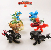 8 Pcs full set Movie How to Train Your Dragon Figure PVC Action Figures Night Fury Dolls Toothless Dragon Toys