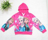 Wholesale Frozen cartoon CVC zipper children hoodies for girls autumn winter children's coat hoodies infant jacket kids clothes