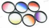 NEW 52mm Graduated Color Lens Filter Kit Set For Nikon D3100 D3200 D5100 D5200 D7000 18-55mm DSLR Camera Free Shipping