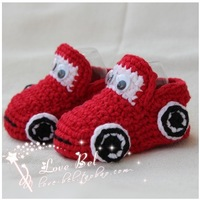 New! HOT sale! super cute baby Crochet shoes handmade shoes toddler shoes cartoon car  free shipping