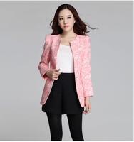 2014 jacquard lace decoration body plus size jacket big yards fat sister favorite Slim