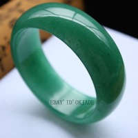 christmas decoration Certified 100% Green Fashion Retro Female Natural Jade Bangle Bracelet 58-62mm