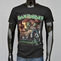 New Arrival Fashion Iron Maiden 3d Printed Short Sleeve Western Style T Shirts! 100% Cotton t shirts