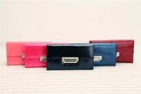 WOMEN 2014 FASHION HASP Alligator leather wallets LONG PATENT LEATHER WALLET FOR WOMAN