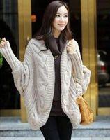 2014 new  Korean women bat shirt  long cardigan sweater coat winter fashion