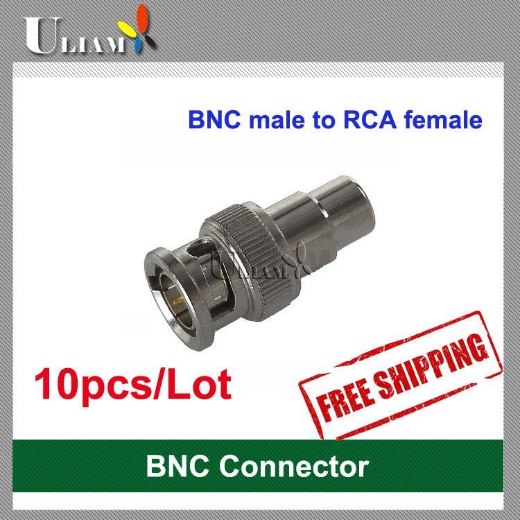 CCTV BNC Male to RCA Female Connector Plug -10pcs(China (Mainland))