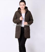New 2014 Winter Thick Warm X-Long Casual Women Winter Jacket XL XXL XXXL XXXXL XXXXXL Free Shipping