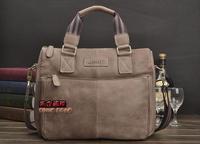 New Hot Sale Men's Famous Brand Messenger Shoulder Bags Genuine Leather Vintage Fashion Design Briefcases Laptop Bags