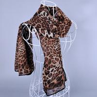 Free Shipping 2014 Nice Hem Long Fashion Leopard 100*140cm Chiffon Printed Scarf Stole
