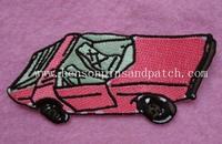 Custom car embridery patch, small MOQ, car label