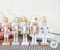 Free shipping 12cm nutcracker soldier puppets zakka Christmas ornaments creative home decoration Germany Dolls Nutcrackers