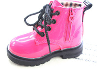 Hot selling fashion children shoes baby boots boys & girls spring / autumn martin boots bright color shoes