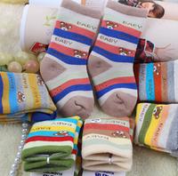 Free shipping 2014 Autumn Winter Factory Boneless Cute Baby Boys Girls Socks kids  for 1-5years old