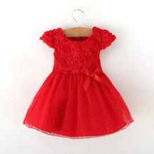 New 2014 Kids girls clothes cute summer dress fashion baby girls ball gown dress princess red formal  dress de vestidos menina05(China (Mainland))