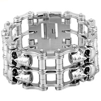 Stainless steel bicycle chain bracelet titanium steel bracelet handsome bicycle chain domineering fashion tide birthday gift