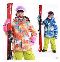 2014 hot sale -20 degree kids outdoor jackets winter jacket ski waterproof and windproof jackets for 110-164cm children