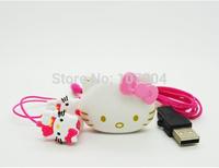 2014 Hello Kitty Shaped MP3  Music Player Card Reader  +Hello Kitty Earphone+Mini USB