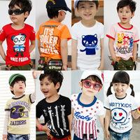 Min. Order Qty any 2pcs in my shop size100~140 Child Tops tees boys girls Cartoon short Sleeve T shirt  Children T-Shirts wodiwd
