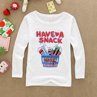 Korean children's fashion fall fashion new childT cheap Spring Specials New Kids shirt -sleeved