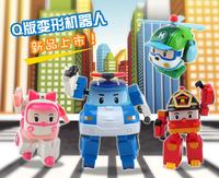 Free shipping 4pcs/lot Robocar poli deformation car bubble South Korea Thomas Classic Action Figure Robot Toys for Children