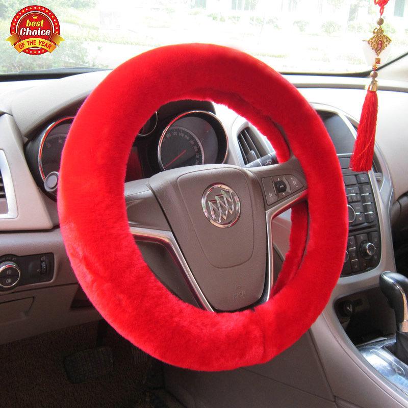 2014 Winter new arrival plush car steering wheel cover Hot selling Wheel Cover Warming steering cover Auto Supplier Dia 38CM(China (Mainland))