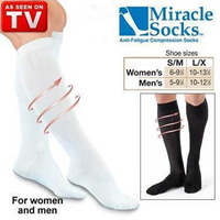 1 pair Miracle Socks Anti-Fatigue Compression Socks Antifatigue Stockings Unisex Soothe Tired Achy Legs & Feet As Seen On TV