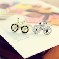 (Min order is $10) E1008 queer accessories cartoon bicycle ring finger ring opening
