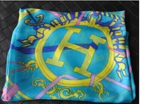 Min Order $15(mixed order) 2014 western style  Restoring ancient ways gharry  printing  imitated silk fabric scarf  shawl