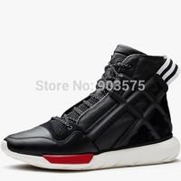 New 2014 Y3 sneaker QASA High men women genuine leather sneakers shoes EU 35-45