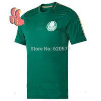 Top 3A Best 100% Thailand Brasil Brazil Palmeiras FC 14 15 Soccer Jerseys Futbol DE Camisetas Footbal Unifrom Custom t shirt