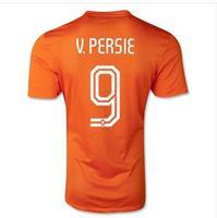 2014 World Cup Holanda Jerseys V.PERSIE Top Thai Quality Camisa Holanda Home Away Football Jerseys